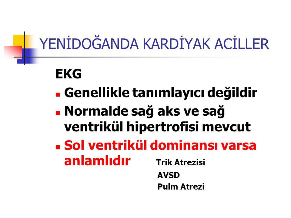 YENİDOĞANDA KARDİYAK ACİLLER ARİTMİ Prematür bebeklerde de benzer ritim Yenidoğan döneminde I.,II., ve III.