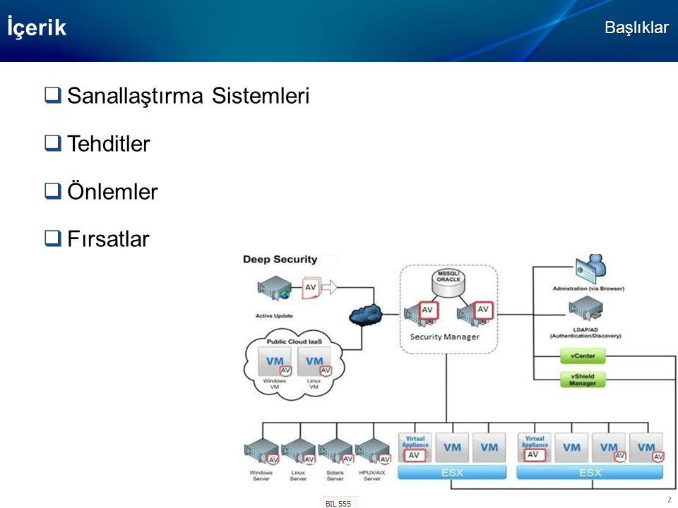 BIL-506 3 Sanallaştırma Sistemleri  Sanallaştırma Sistemleri özellikleri  Sanallaştırma çeşitleri  Sanallaştırma bileşenleri