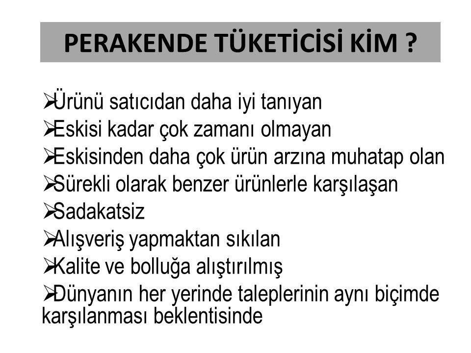 PERAKENDE TÜKETİCİSİ KİM .