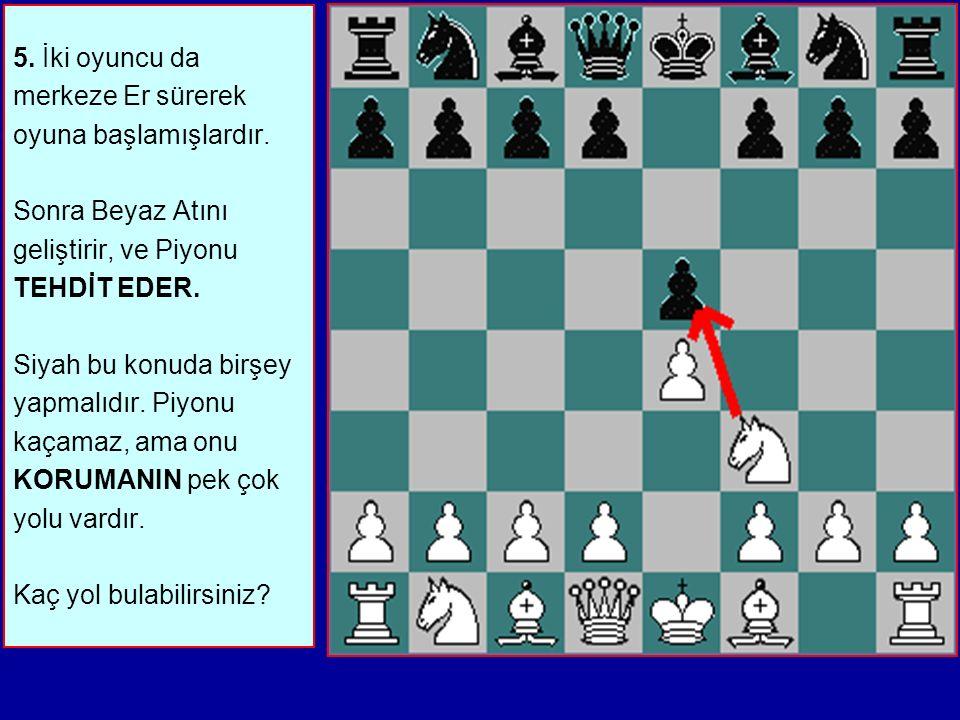 5.İki oyuncu da merkeze Er sürerek oyuna başlamışlardır.