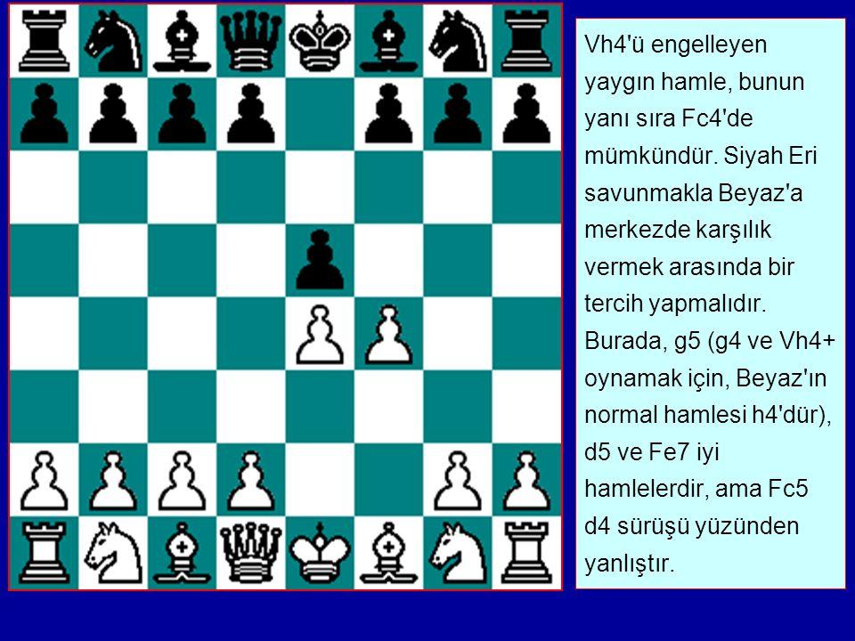 Vh4 ü engelleyen yaygın hamle, bunun yanı sıra Fc4 de mümkündür.