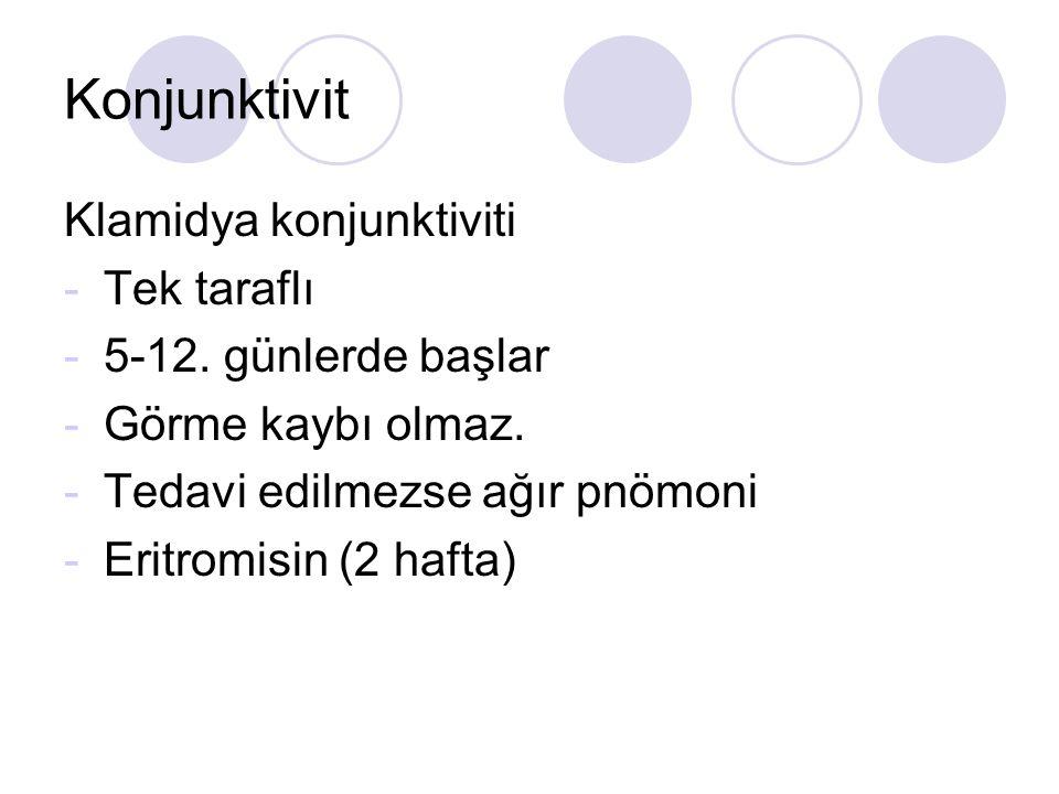 Konjunktivit Klamidya konjunktiviti -Tek taraflı -5-12.