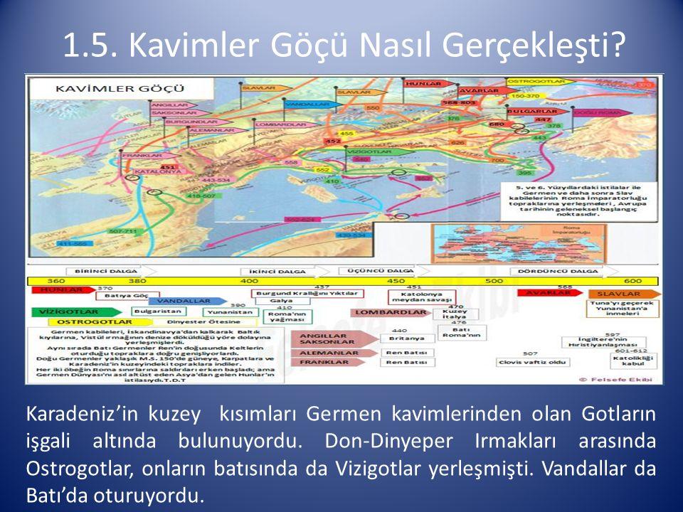 Karadeniz'in kuzey kısımları Germen kavimlerinden olan Gotların işgali altında bulunuyordu. Don-Dinyeper Irmakları arasında Ostrogotlar, onların batıs
