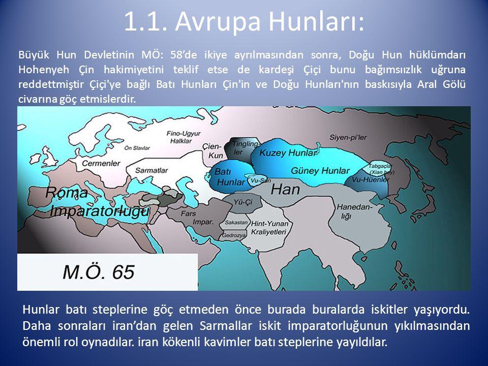 Büyük Hun Devletinin MÖ: 58'de ikiye ayrılmasından sonra, Doğu Hun hüklümdarı Hohenyeh Çin hakimiyetini teklif etse de kardeşi Çiçi bunu bağımsıızlık