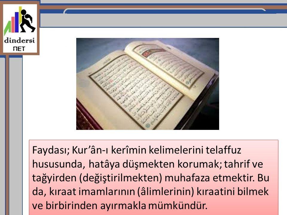 4- İmam İbn-i Amir: İsmi Abdullah bin Âmiry künyesi Ebû İmrân olup, tâbiînden.
