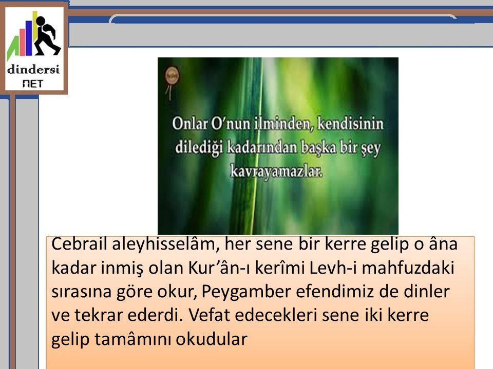 Kur'ân-i kerîm, Arabca'nın yedi lehçesi üzerine nazil oldu.
