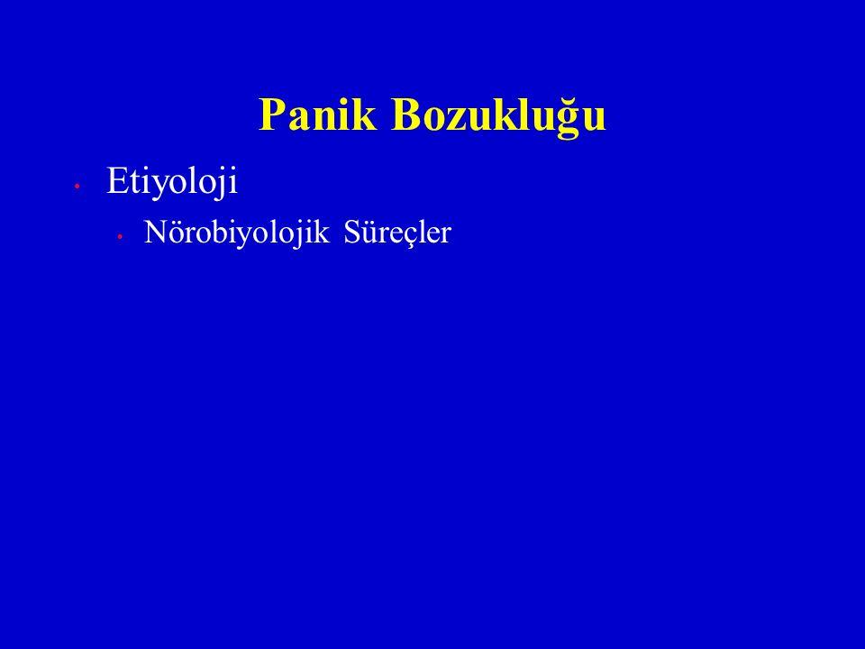 Etiyoloji Nörobiyolojik Süreçler Panik Bozukluğu