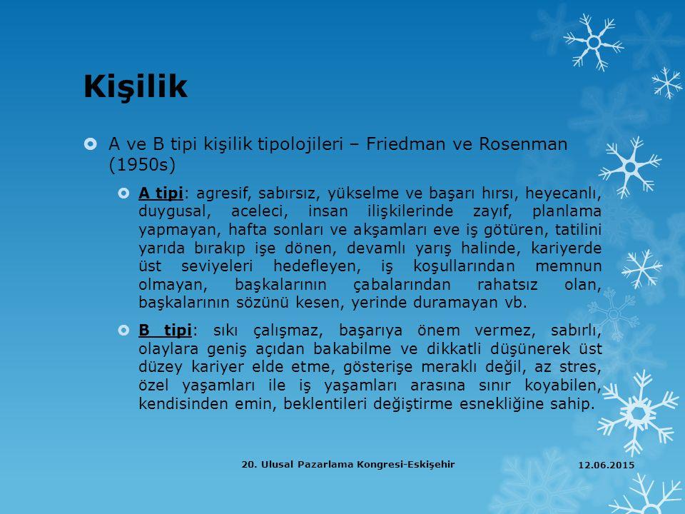 Teşekkür ederim… 12.06.2015 20. Ulusal Pazarlama Kongresi-Eskişehir