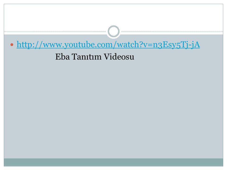 http://www.youtube.com/watch?v=n3Esy5Tj-jA Eba Tanıtım Videosu
