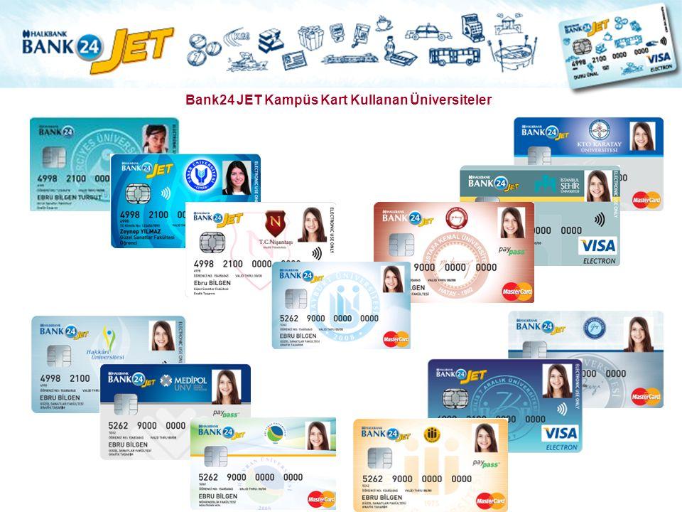 Bank24 JET Kampüs Kart Kullanan Üniversiteler
