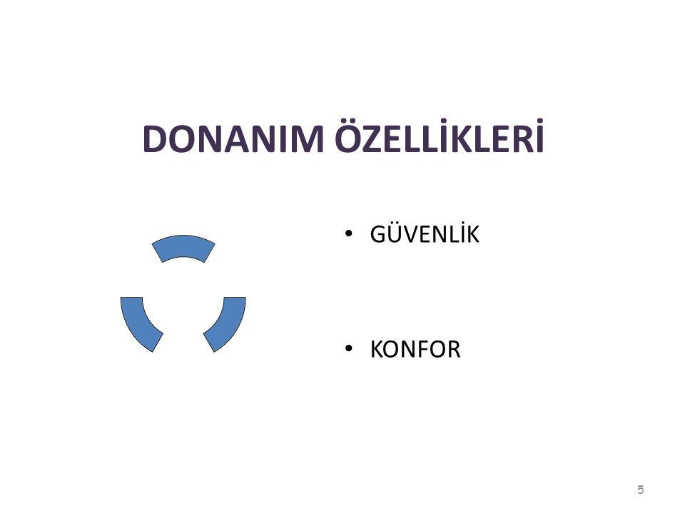 DONANIM ÖZELLİKLERİ GÜVENLİK KONFOR 5