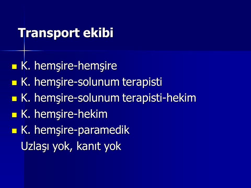 Transport ekibi Transport ekibi K.hemşire-hemşire K.