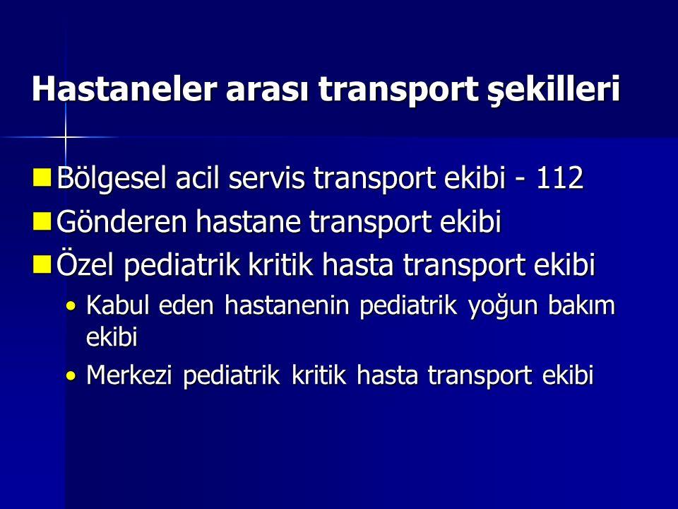 Pediatrik transportun morbiditesi Kanter et al.