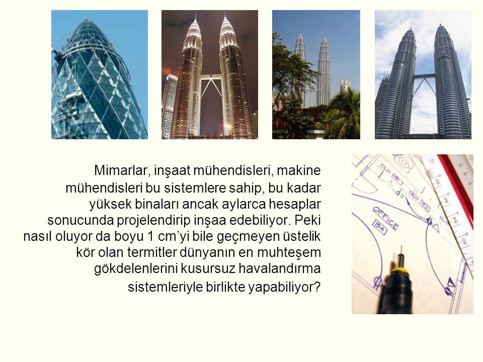Mimarlar, inşaat mühendisleri, makine mühendisleri bu sistemlere sahip, bu kadar yüksek binaları ancak aylarca hesaplar sonucunda projelendirip inşaa edebiliyor.