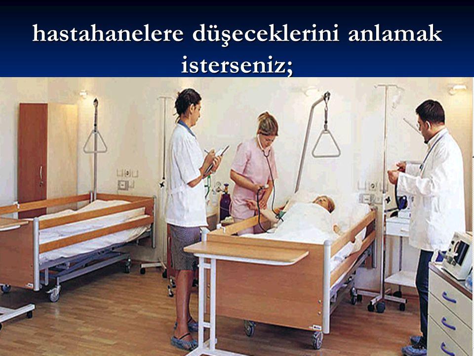 hastahanelere düşeceklerini anlamak isterseniz;