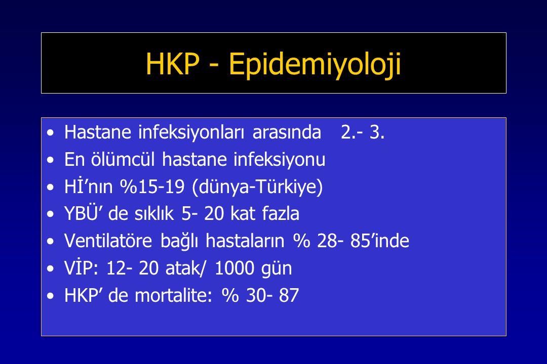 HKP - Epidemiyoloji Hastane infeksiyonları arasında 2.- 3.