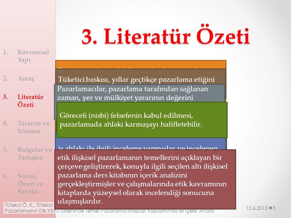 3. Literatür Özeti Walton (1961) Colihan (1967) Steiner (1976) Robin (1980) Gummesson (1994) Torlak (2000) Baetz ve Sharp (2004) Perret ve Holmlund (2