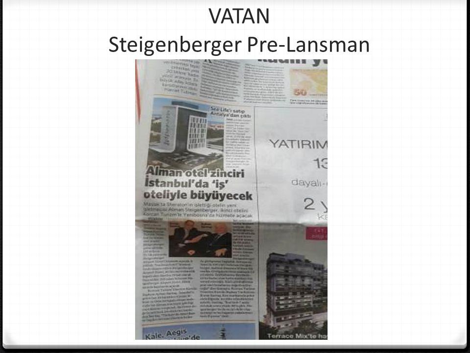 VATAN Steigenberger Pre-Lansman
