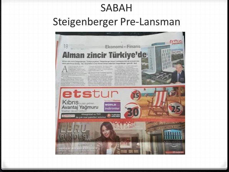 SABAH Steigenberger Pre-Lansman