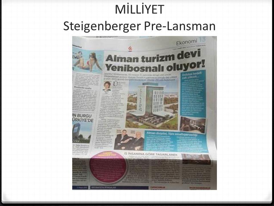 MİLLİYET Steigenberger Pre-Lansman