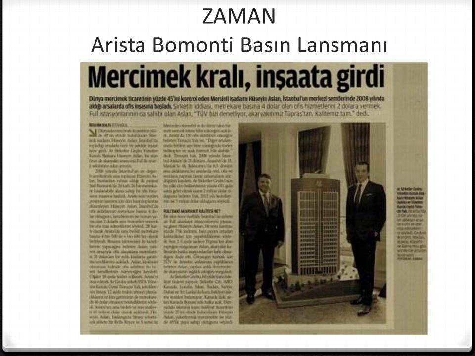ZAMAN Arista Bomonti Basın Lansmanı