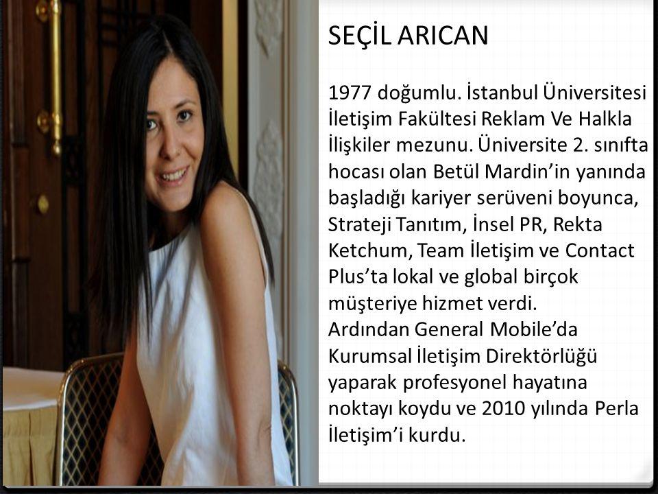 SEÇİL ARICAN 1977 doğumlu.