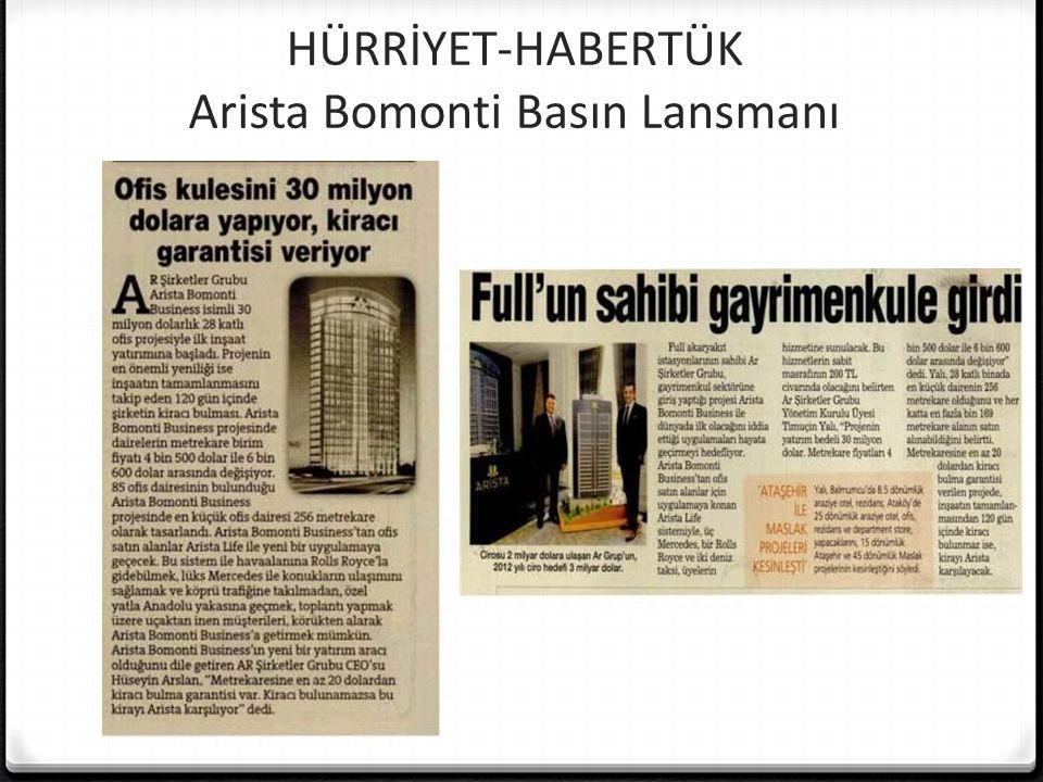 HÜRRİYET-HABERTÜK Arista Bomonti Basın Lansmanı