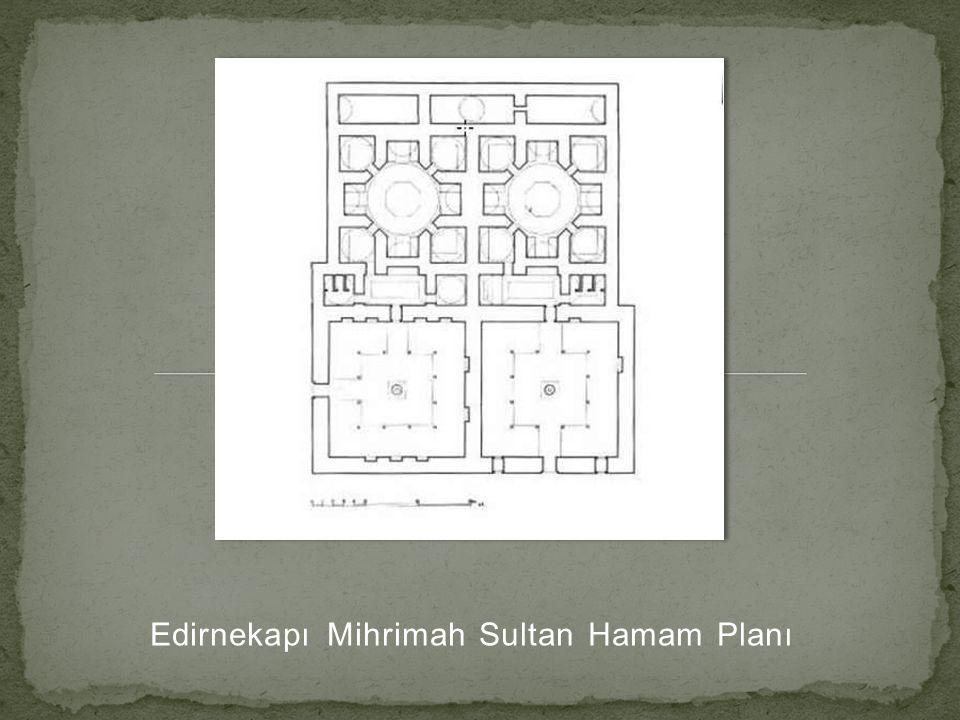 Edirnekapı Mihrimah Sultan Hamam Planı