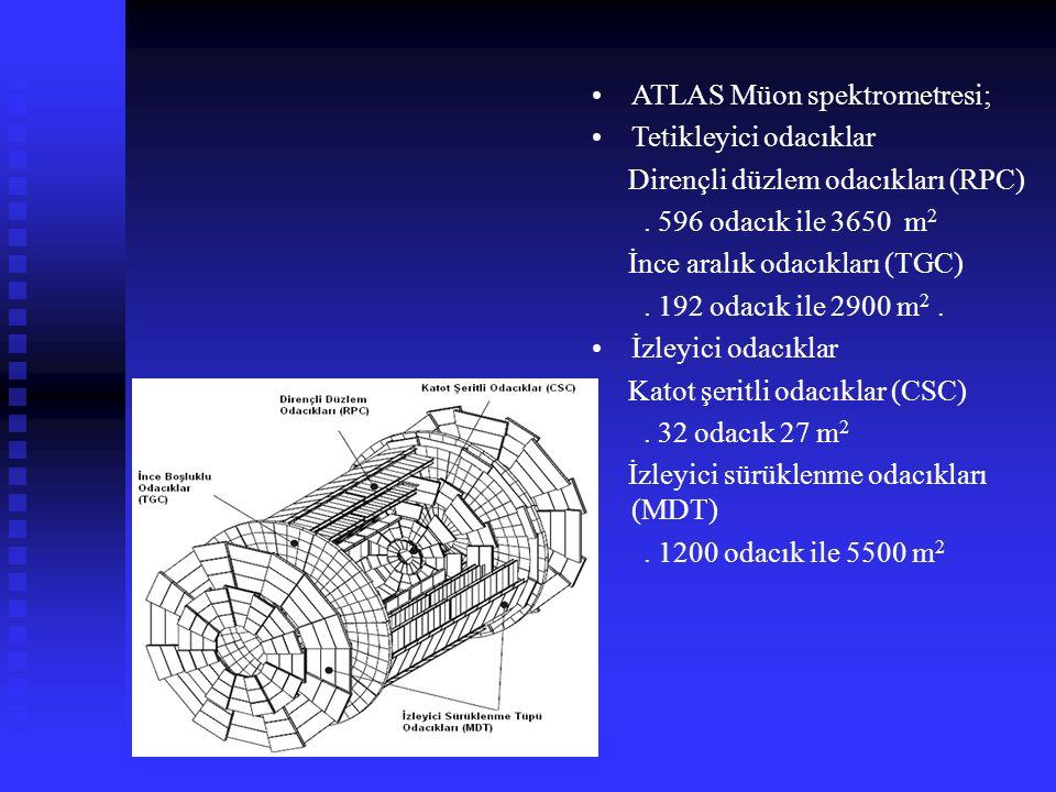 Hodoskop sistem her iki düzlemde 4 sintilatör levhadan oluşur ve tetiklemeyi sağlar.