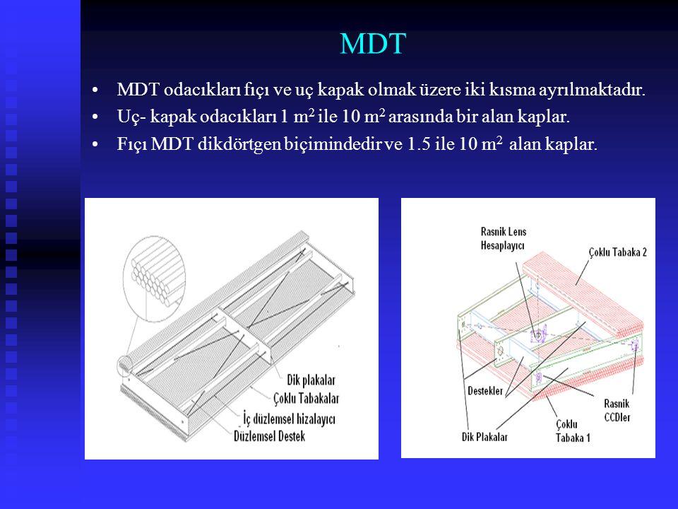 Fıçı MDT İç (Inner), Orta (Middle) ve Dış (Outer) olmak üzere üç eşmerkezli istasyonda bulunur.