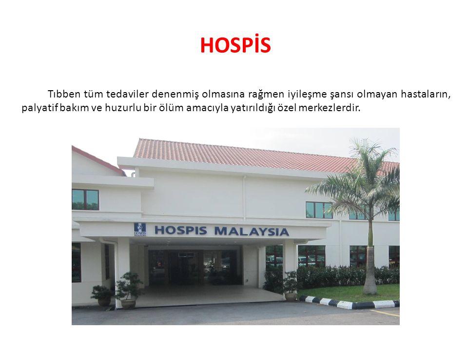 Hospis olarak adlandırılan bakım hizmetleri palyatif bakımın içinde yer alır.