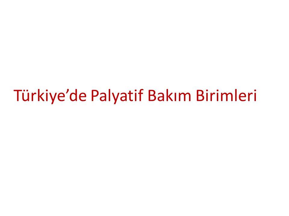 Türkiye'de Palyatif Bakım Birimleri