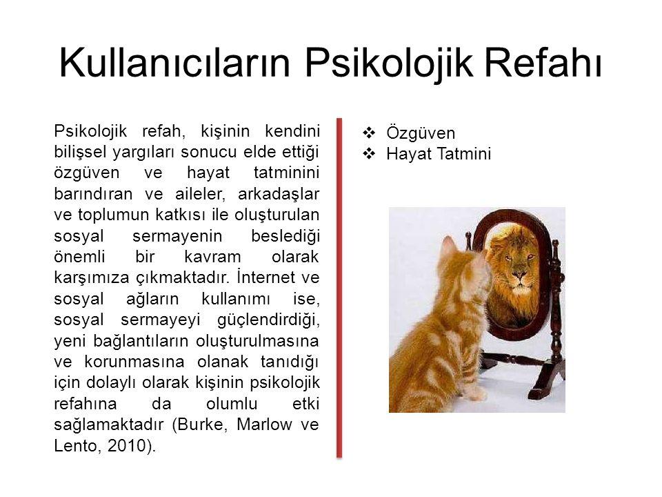 Çalışmanın Kısıtları ve Gelecek Çalışmalar için Öneriler Araştırmanın sadece İstanbul ilinde yapılması ve 18-29 yaş aralığındaki genç kullanıcılara uygulanması araştırmanın en önemli kısıtı olarak gösterilebilir.
