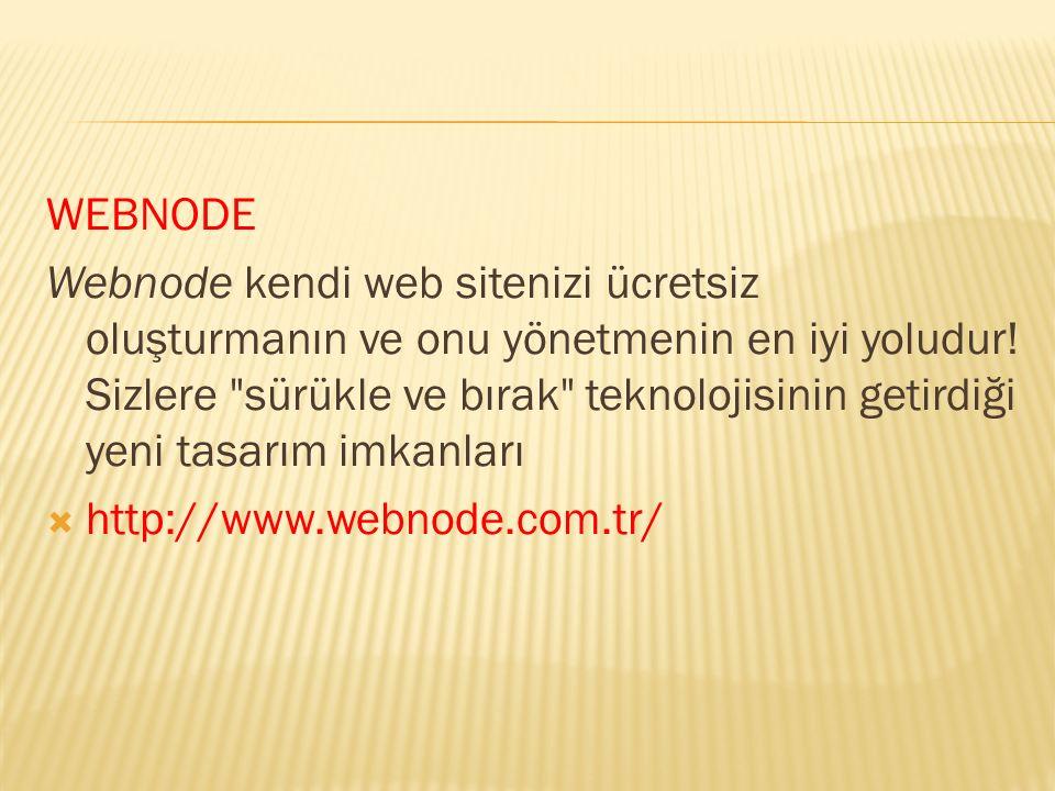 WEBNODE Webnode kendi web sitenizi ücretsiz oluşturmanın ve onu yönetmenin en iyi yoludur! Sizlere