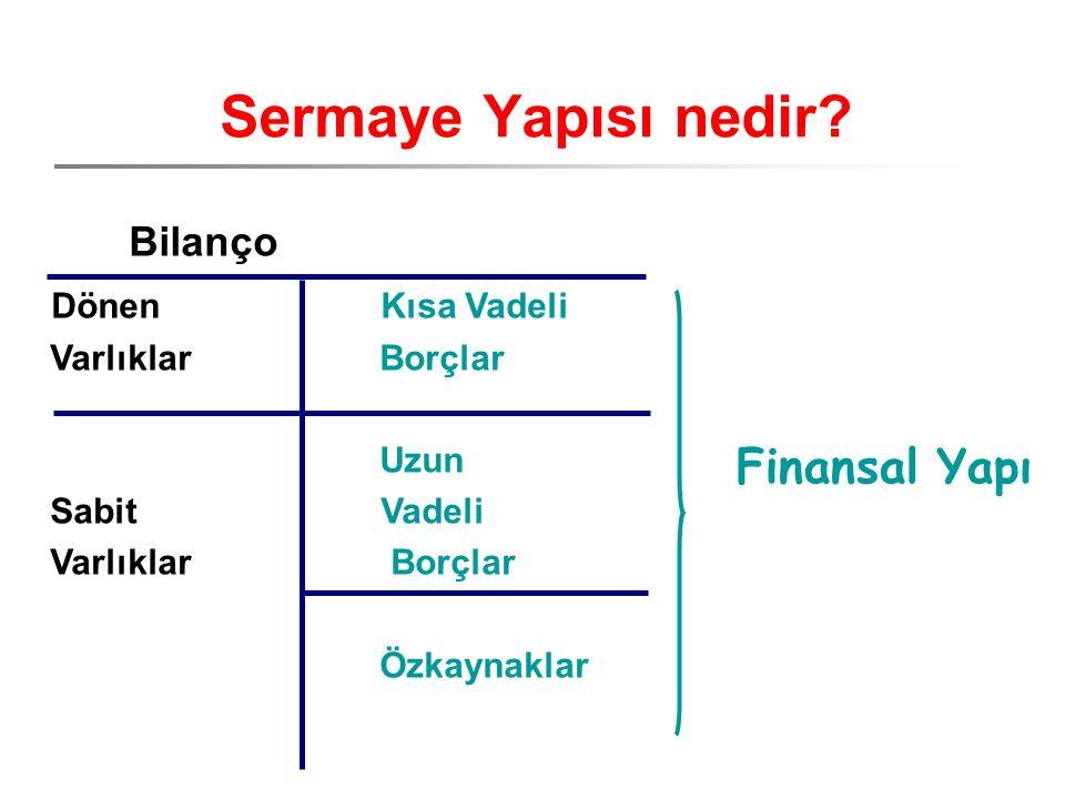 Finansal Yapı Sermaye Yapısı nedir.