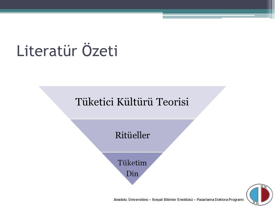 Anadolu Üniversitesi – Sosyal Bilimler Enstitüsü – Pazarlama Doktora Programı Literatür Özeti Tüketici Kültürü Teorisi Ritüeller Tüketim Din
