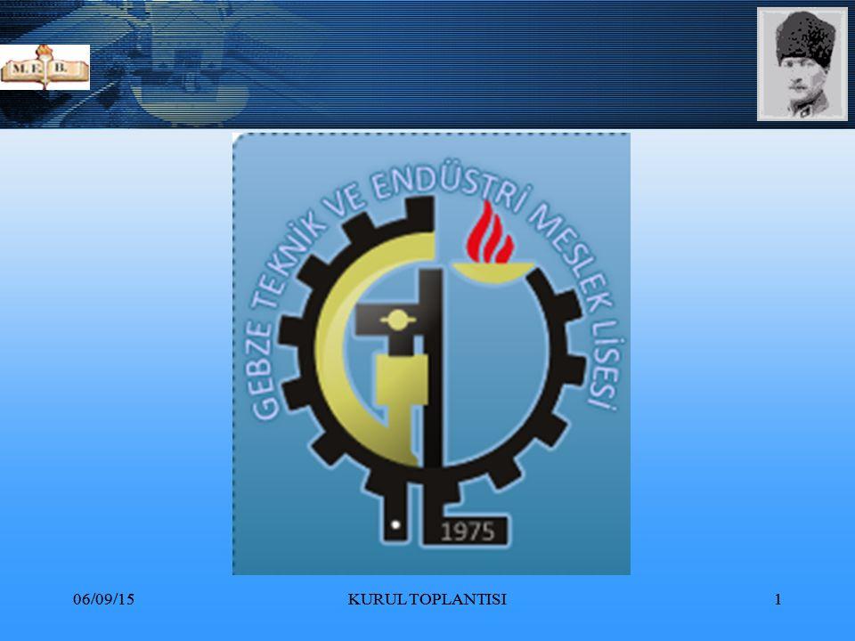 06/09/15KURUL TOPLANTISI32 Madde 2-Türk Milli Eğitiminin genel amacı,Türk Milletinin bütün fertlerini, 1.Atatürk inkılap ve ilkelerine ve Anayasada ifadesini bulan Atatürk milliyetçiliğine bağlı;Türk Milletinin milli,ahlaki,insani,manevi ve kültürel değerlerini benimseyen,koruyan ve geliştiren;ailesini,vatanını, milletini seven ve daima yüceltmeye çalışan;insan haklarına ve Anayasanın başlangıcındaki temel ilkelere dayanan demokratik,laik ve sosyal bir hukuk devleti olan Türkiye Cumhuriyetine karşı görev ve sorumluluklarını bilen ve bunları davranış haline getirmiş yurttaşlar olarak yetiştirmek;