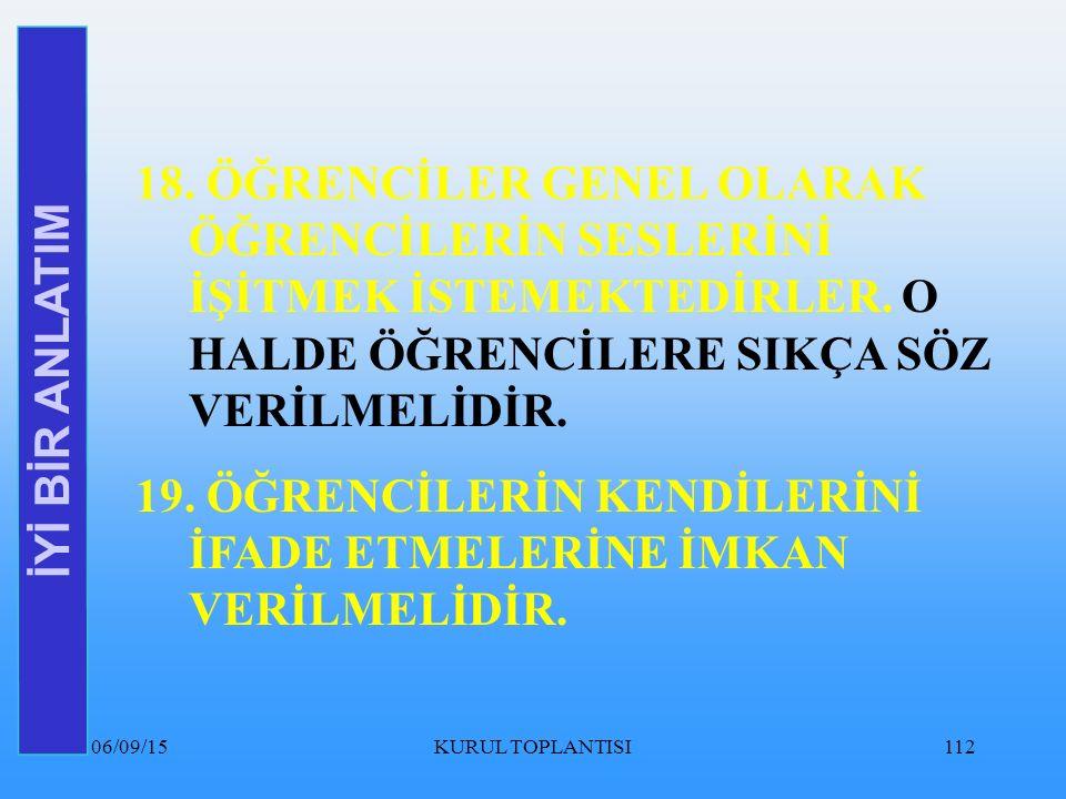 06/09/15KURUL TOPLANTISI112 İYİ BİR ANLATIM 18.