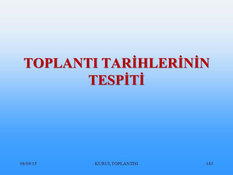 TOPLANTI TARİHLERİNİN TESPİTİ 06/09/15KURUL TOPLANTISI183