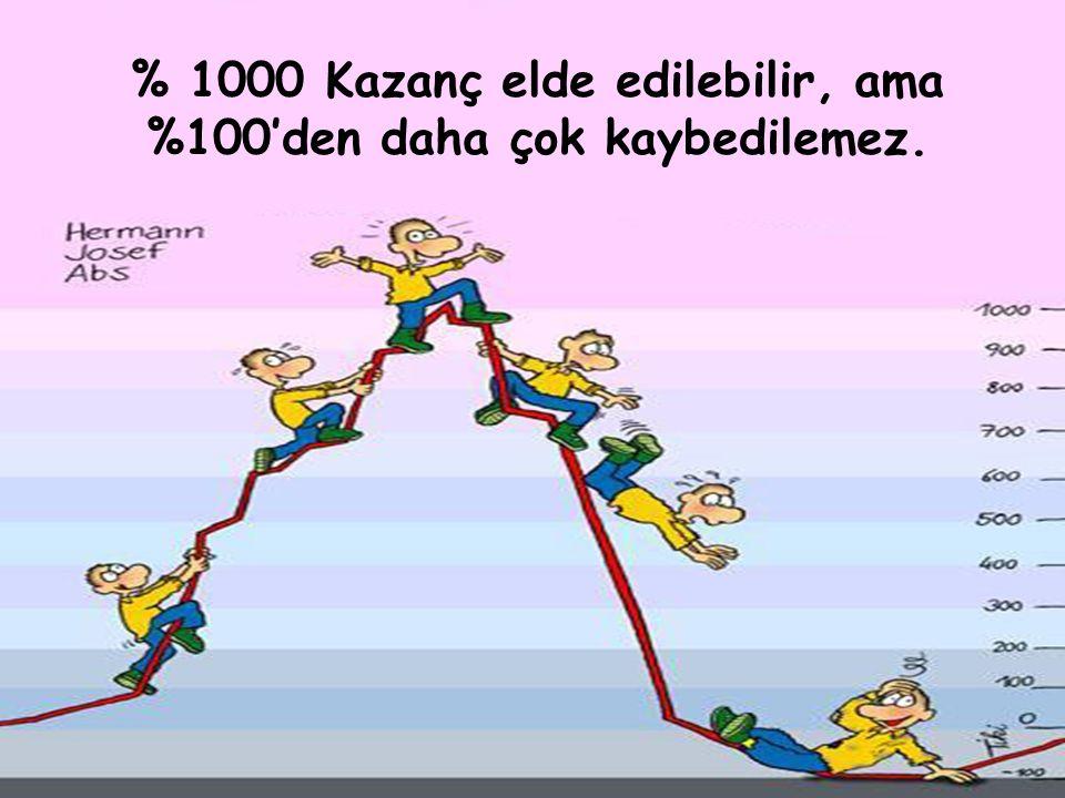 06/09/15KURUL TOPLANTISI76 % 1000 Kazanç elde edilebilir, ama %100'den daha çok kaybedilemez.