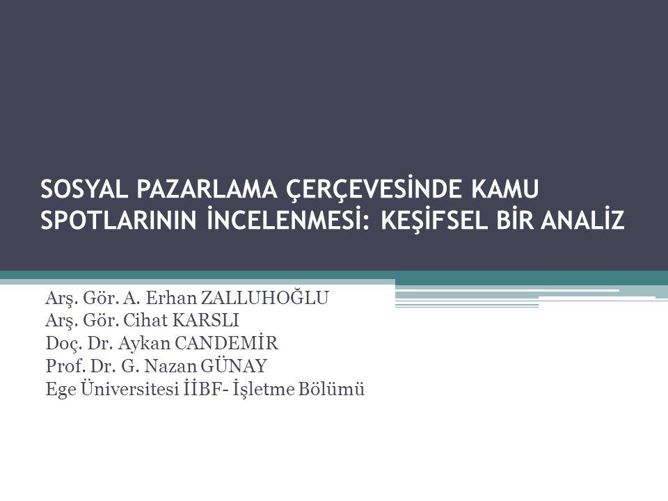 Türkiye'de 1980-1990 yılları arasında yayınlanan kamu spotlarında sağlık, eğitim, ev idaresi, tasarruf, toplum kuralları ile ilgili bilgiler verilmekte ve devletin hedeflediği sorumluluk sahibi vatandaş modeli vurgulanmaktadır.