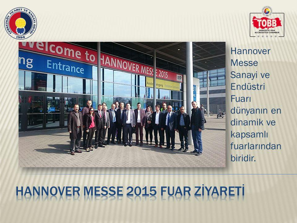 Hannover Messe 2015 Fuarı'nda, üyelerimiz modern teknolojinin ulaştığı son noktayı görme şansı yakalarken, sanayide kaydedilen gelişmelere de tanık oldu.
