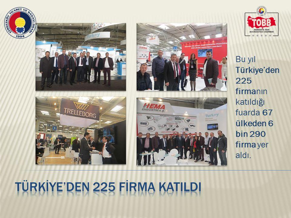 Fuarda Gebze Ticaret Odası, Eskişehir Ticaret ve Sanayi Odası ve İstanbul Ticaret Oda'sının da standları yer aldı.