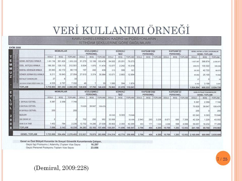ELEŞTİREL ANALİZ ÖRNEĞİ (Demiral, 2009:116) 8/25