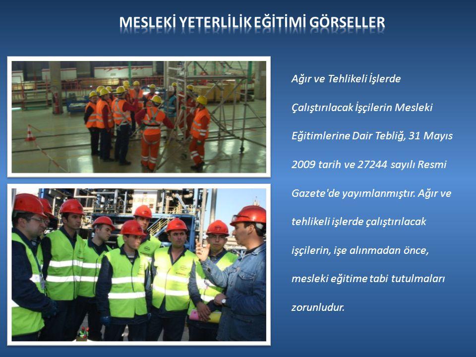Ağır ve Tehlikeli İşlerde Çalıştırılacak İşçilerin Mesleki Eğitimlerine Dair Tebliğ, 31 Mayıs 2009 tarih ve 27244 sayılı Resmi Gazete de yayımlanmıştır.