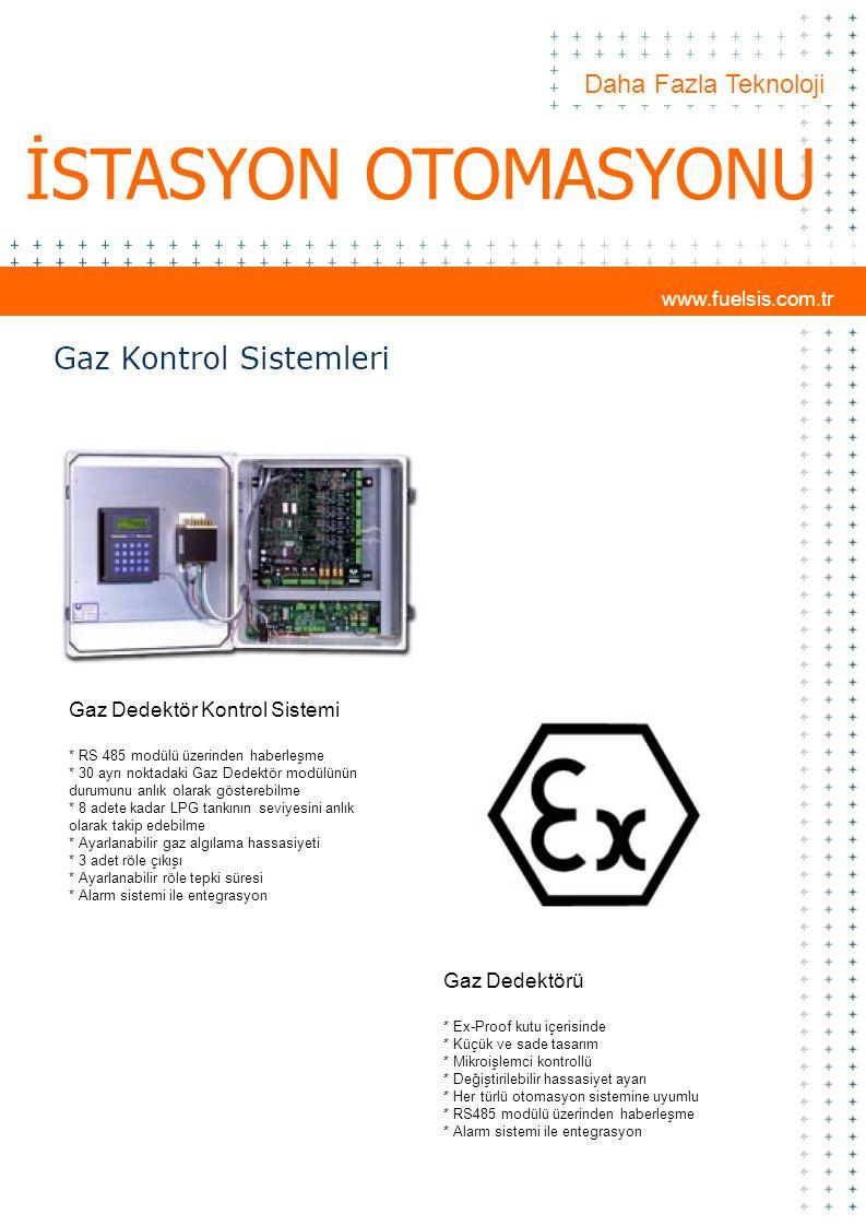 Daha Fazla Teknoloji İSTASYON OTOMASYONU Gaz Dedektör Kontrol Sistemi * RS 485 modülü üzerinden haberleşme * 30 ayrı noktadaki Gaz Dedektör modülünün