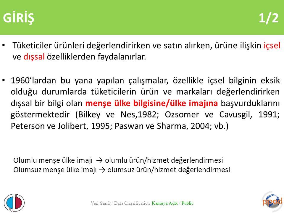 GİRİŞ 2/2 Menşe ülkenin tüketici davranışını nasıl etkilediğine yönelik yapılan çalışmalar genelde somut ürünlere yani mallara odaklanmıştır (Al- Sulaiti ve Baker, 1998).