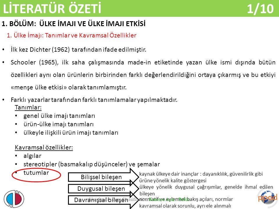 ARAŞTIRMA PROBLEMİ VE SORULAR 1/2 Veri Sınıfı / Data Classification Kamuya Açık / Public Araştırma Problemi: Yabancı pazarlarda Türk menşeili hizmet markalarının algılanmasında menşe ülke imajı nasıl bir rol oynamaktadır.
