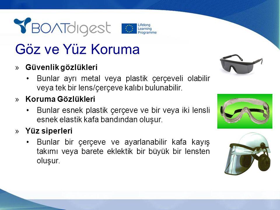 Göz ve Yüz Koruma »Güvenlik gözlükleri Bunlar ayrı metal veya plastik çerçeveli olabilir veya tek bir lens/çerçeve kalıbı bulunabilir. »Koruma Gözlükl