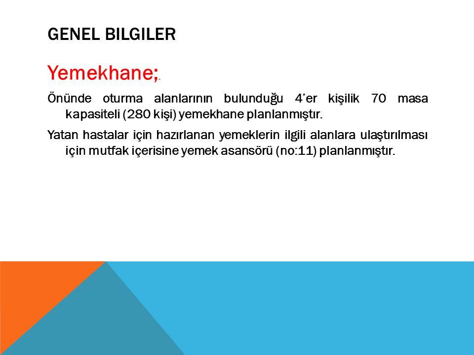 GENEL BILGILER Yemekhane;.